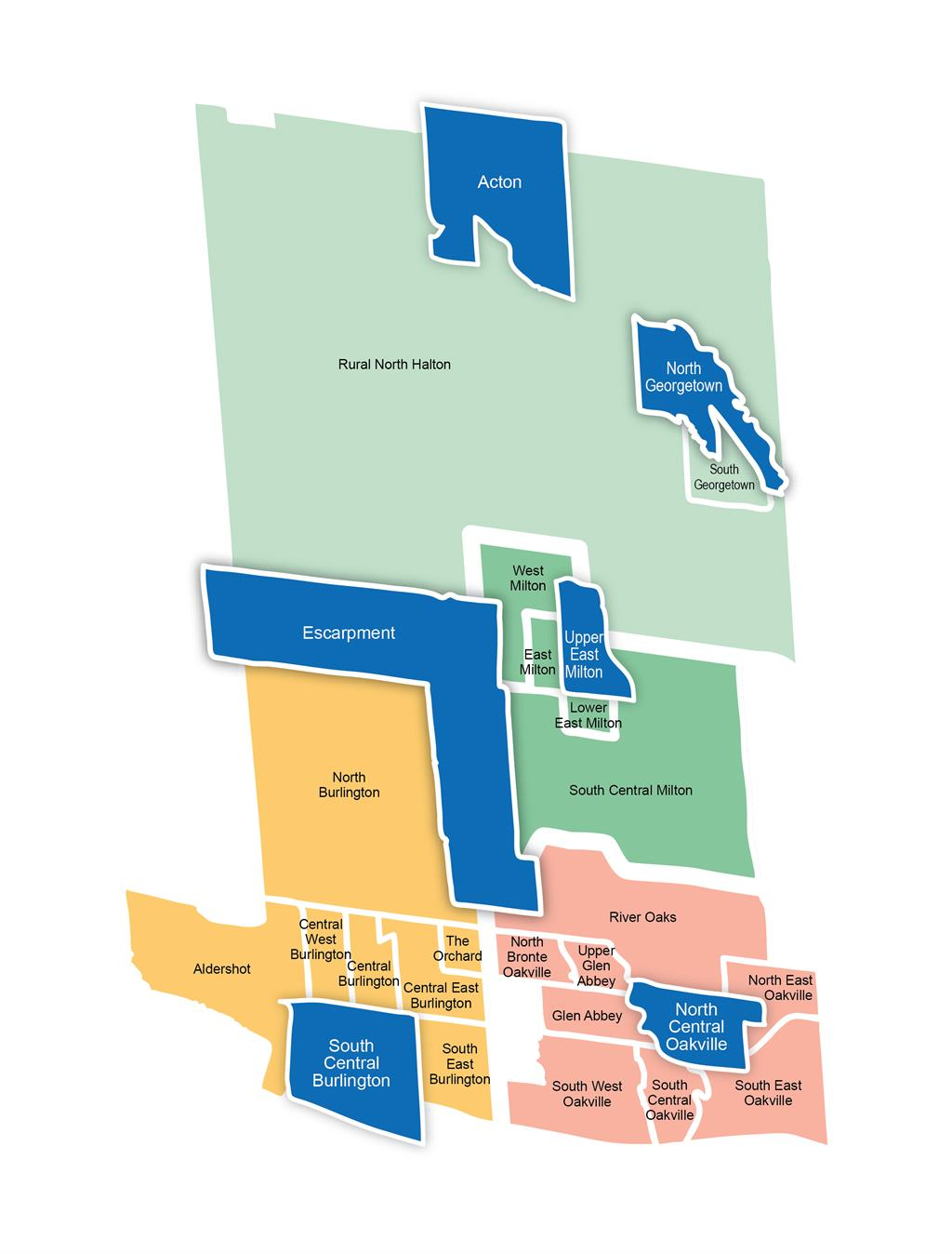 Map of neighbourhoods involved in Early Years Initiative